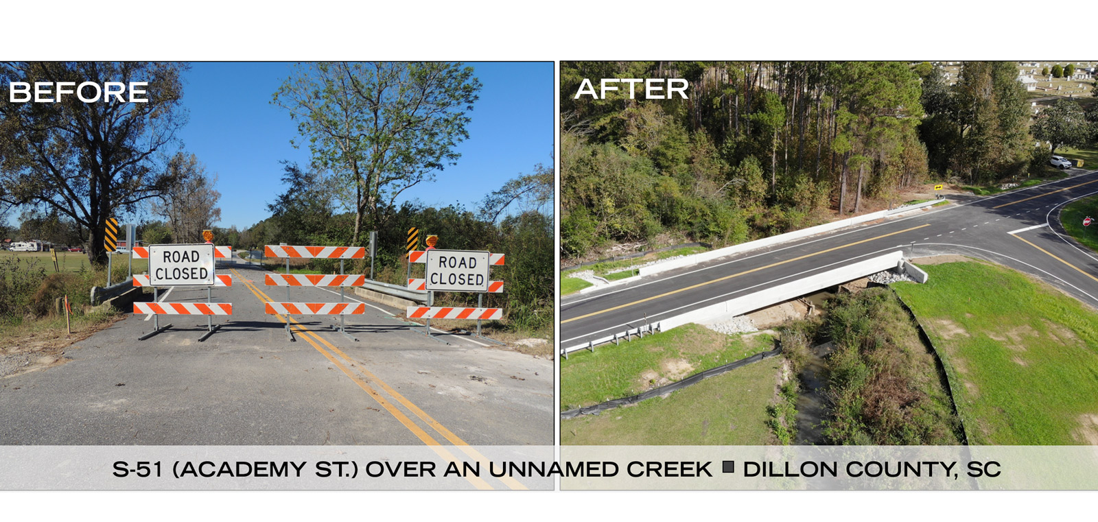 EMERGENCY BRIDGE PACKAGE 2018 2-A SCDOT S-51 DILLON COUNTY, SC