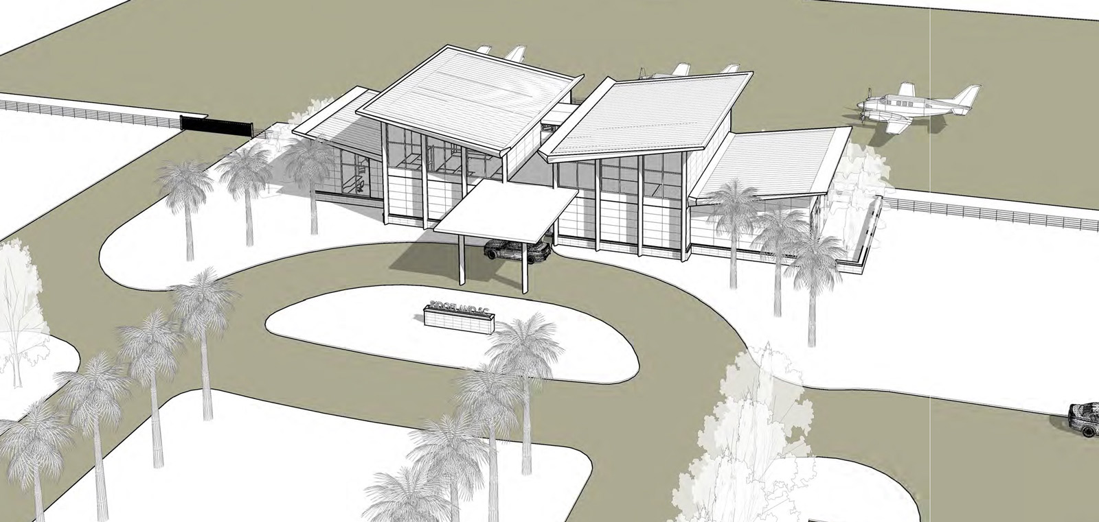 NEW TERMINAL BUILDING PROPOSED TERMINAL RIDGELAND-CLAUDE DEAN AIRPORT (3J1)